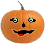 jack-o'-lantern for white pages